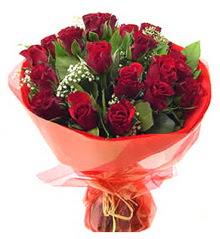 Ağrı anneler günü çiçek yolla  11 adet kimizi gülün ihtisami buket modeli