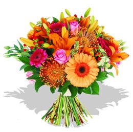 Ağrı çiçekçi telefonları  Karisik kir çiçeklerinden görsel demet