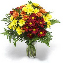 Ağrı çiçek siparişi sitesi  Karisik çiçeklerden mevsim vazosu