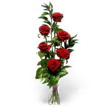 Ağrı çiçek siparişi sitesi  cam yada mika vazo içerisinde 6 adet kirmizi gül