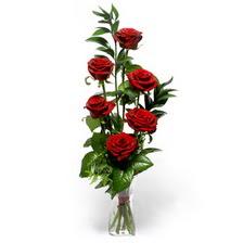 Ağrı uluslararası çiçek gönderme  mika yada cam vazoda 6 adet essiz gül