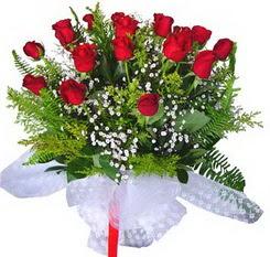 Ağrı çiçek satışı  12 adet kirmizi gül buketi esssiz görsellik