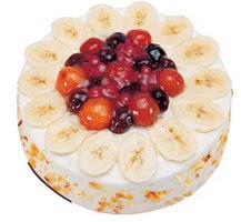 Meyvali 4 ile 6 kisilik yas pasta leziz  Ağrı ucuz çiçek gönder