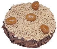 Kestahaneli yas pasta 4 ile 6 kisilik pasta  Ağrı çiçek siparişi sitesi