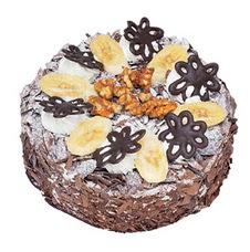 Muzlu çikolatali yas pasta 4 ile 6 kisilik   Ağrı uluslararası çiçek gönderme