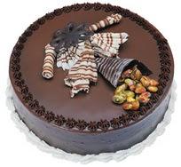 Çikolatali yas pasta 4 ile 6 kisilik  leziz  Ağrı çiçek mağazası , çiçekçi adresleri