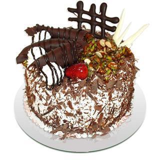 4 ile 6 kisilik çikolatali yas pasta  Ağrı kaliteli taze ve ucuz çiçekler