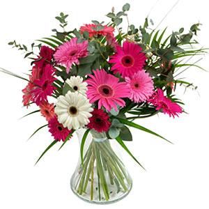 15 adet gerbera ve vazo çiçek tanzimi  Ağrı online çiçek gönderme sipariş