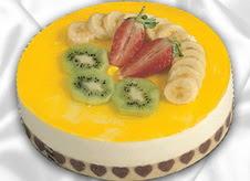 pasta gönderme 4 ile 6 kisilik yas pasta muzlu yaspasta  Ağrı çiçek mağazası , çiçekçi adresleri