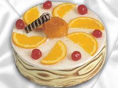 lezzetli pasta satisi 4 ile 6 kisilik yas pasta portakalli pasta  Ağrı çiçekçi mağazası