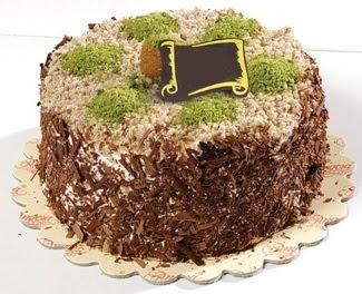 pasta gönderme 4 ile 6 kisilik çikolatali yas pasta  Ağrı çiçek satışı