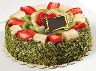 pasta gönder  4 ile 6 kisilik karisik meyvali yas pasta  Ağrı internetten çiçek siparişi
