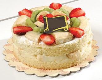 pasta siparisi 4 ile 6 kisilik karisik meyvali yas pasta  Ağrı çiçek servisi , çiçekçi adresleri
