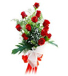 11 adet kirmizi güllerden görsel sölen buket  Ağrı çiçek siparişi vermek