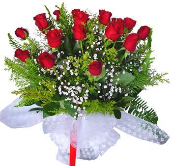 11 adet gösterisli kirmizi gül buketi  Ağrı internetten çiçek satışı