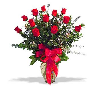 çiçek siparisi 11 adet kirmizi gül cam vazo  Ağrı online çiçek gönderme sipariş