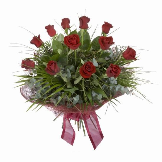 Etkileyici buket 11 adet kirmizi gül buketi  Ağrı internetten çiçek satışı