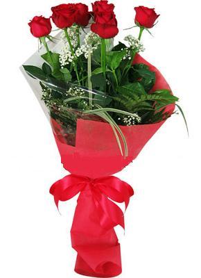 7 adet kirmizi gül buketi  Ağrı çiçek yolla , çiçek gönder , çiçekçi