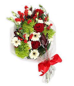 Karisik mevsim buketi çiçek tanzimi  Ağrı internetten çiçek siparişi