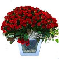 Ağrı çiçekçiler   101 adet kirmizi gül aranjmani