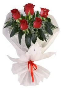 5 adet kirmizi gül buketi  Ağrı çiçekçiler