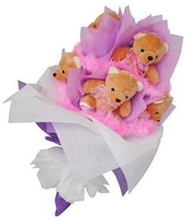 9 adet ayiciktan buket  Ağrı hediye sevgilime hediye çiçek