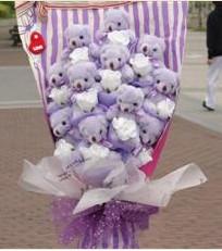 11 adet pelus ayicik buketi  Ağrı çiçek gönderme sitemiz güvenlidir