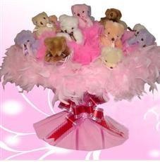 11 adet pelus ayicik buketi  Ağrı çiçek satışı