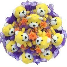 11 adet pelus ayicik buketi  Ağrı çiçek mağazası , çiçekçi adresleri