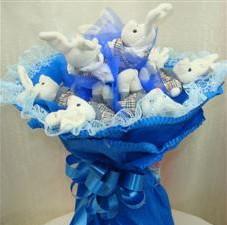 7 adet pelus ayicik buketi  Ağrı çiçek , çiçekçi , çiçekçilik