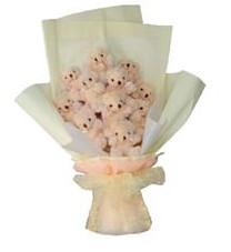 11 adet pelus ayicik buketi  Ağrı ucuz çiçek gönder