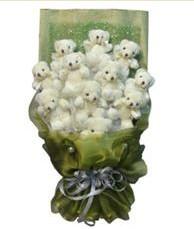 11 adet pelus ayicik buketi  Ağrı online çiçek gönderme sipariş