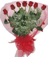 7 adet kipkirmizi gülden görsel buket  Ağrı çiçek mağazası , çiçekçi adresleri
