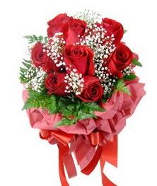 9 adet en kaliteli gülden kirmizi buket  Ağrı çiçek servisi , çiçekçi adresleri