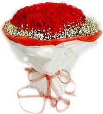 Ağrı çiçekçiler  41 adet kirmizi gül buketi