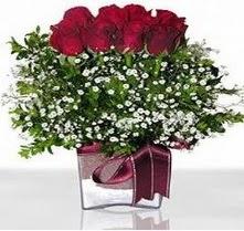 Ağrı internetten çiçek satışı  mika yada cam vazo içerisinde 7 adet gül
