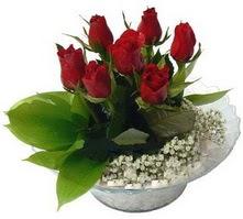 Ağrı internetten çiçek satışı  cam yada mika içerisinde 5 adet kirmizi gül