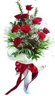 Ağrı ucuz çiçek gönder  10 adet kirmizi gül buketi demeti