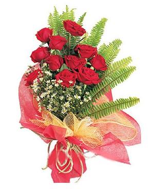 Ağrı İnternetten çiçek siparişi  11 adet kırmızı güllerden buket modeli