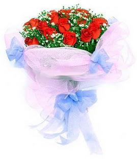 Ağrı çiçek siparişi sitesi  11 adet kırmızı güllerden buket modeli
