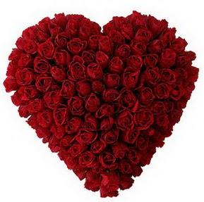 Ağrı çiçekçi mağazası  muhteşem kırmızı güllerden kalp çiçeği