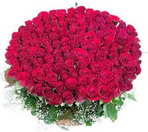 Ağrı online çiçekçi , çiçek siparişi  100 adet kırmızı gülden görsel buket