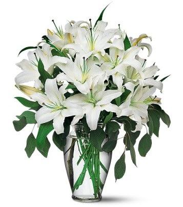 Ağrı internetten çiçek satışı  4 dal kazablanka ile görsel vazo tanzimi