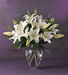 Ağrı İnternetten çiçek siparişi  4 dal cazablanca vazo çiçeği