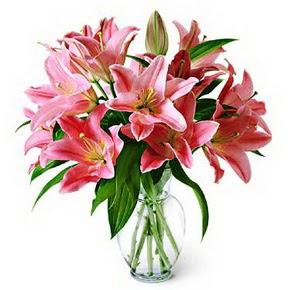 3 dal kazablanka görsel vazosu  Ağrı internetten çiçek siparişi