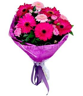 Ağrı çiçek siparişi sitesi  karışık gerbera çiçeği buketi