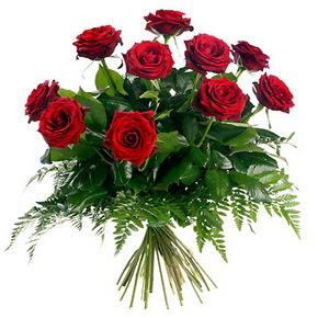 Ağrı çiçek gönderme  10 adet kırmızı gülden buket
