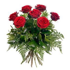 Ağrı online çiçek gönderme sipariş  7 adet kırmızı gülden buket