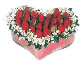 Ağrı çiçekçi telefonları  mika kalpte kirmizi güller 9