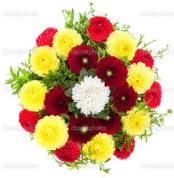 Ağrı çiçekçi mağazası  13 adet mevsim çiçeğinden görsel buket